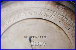 Compensato Ing. A. Salmoiraghi & C. Milano BAROMETER & ALTIMETER FULLY WORKING