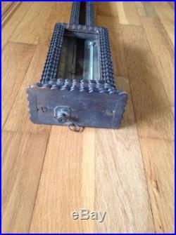 D. E. Lent Ripple Front Stick Barometer