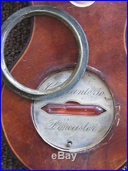 Early 1800s English Mahogany Barometer Signed G Volanterio Don Caster 39