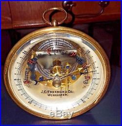 Early 19th Century Antique J. C. Freeman & Company Barometer