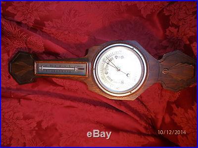 English Barometer & Thermometer Banjo Antique