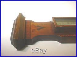 English Rosewood Mahogany Inlaid Barometer, Circa 1890's 1900s Superb