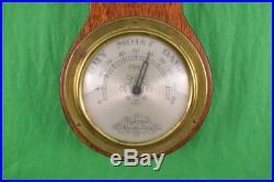 English Salem Banjo Barometer/ Thermometer with Rondel by Frank Vosmansky