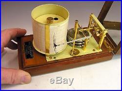 Fine BAROGRAPH, Near MINIATURE, MAXANT Paris Gold plated parts