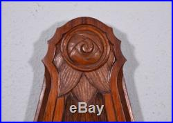 French Antique Art Deco Barometer Thermometer Weather Station Walnut Wood