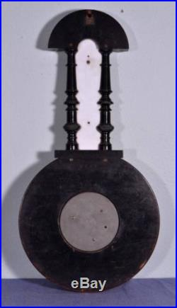 French Second Empire Barometer Thermometer Napoleon III Ebony Carved Wood (D)