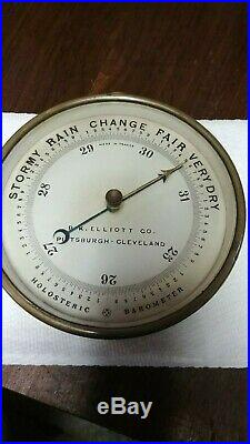 French made, B. K. Elliott Holosteric Barometer Pittsburgh -Cleveland