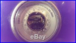 German Porcelain Munchner Illustrierte advertising Barometer Thermometer Antique