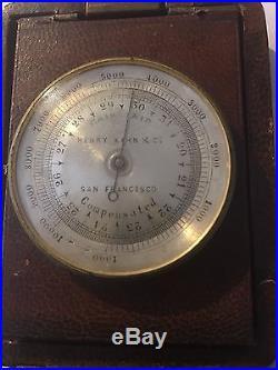 Gold Prospectors Pocket Compass Barometer Thermometer Calif. S. F. Henry Kahn Co