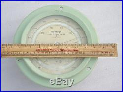Huge Vintage Yanagi Japan Ships Marine Aneroid Precision Weather Boat Barometer