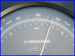 Huge Bendix Friez U. S Weather Bureau Noaa Ships Marine Aneroid Weather Barometer