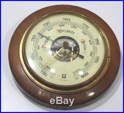 Huger weather station precision aneroid wooden barometer make west Germany