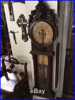 Important Antique Walnut Barometer