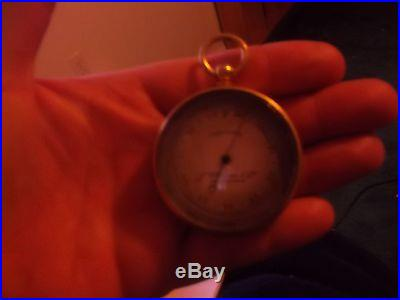 James W Queen & CO Antique Aneroid Baromter Late 1800's Compensated Philadelphia