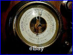 Large Antique French Barometer /Thermometer Carved UNKNOWN MAKER NICE BUY-NOW