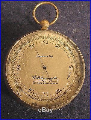 Large Pocket Barometer and Altimeter-Mfg. E. B. Meyrowitz-New York City, N. Y