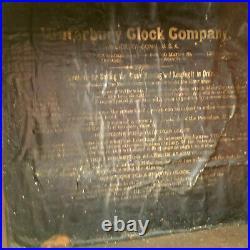 Large Waterbury Round Top Wall Regulator Clock-With Repair Label 1900