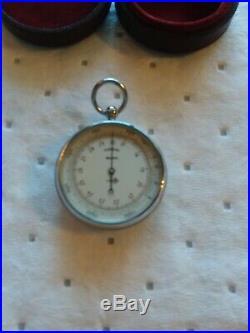 Lufft Antique Pocket Barometer, Hoffritz Desktop Barometer
