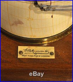 Mahogany Barograph, E. B. Meyrowitz