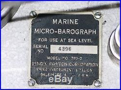 MARINE MICRO-BAROGRAPH MODEL 790-2 BENDIX FRIEZ VERY RARE! # 8/7577