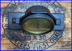 Mid Century Taylor Instruments Stormoguide swiveling Desktop Barometer mounted
