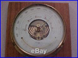 Niigata Aneroid Barometer Nautical Ships Inch & Millibar Scale Thermometer