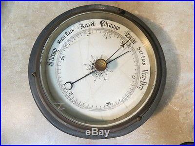 Old Antique Vintage Barometer Porcelain Face Boating Nautical