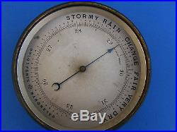 Old antique brass Holosteric Barometer Made in France PHBN no glass vintage NICE