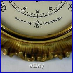 Original Antique French Bronze Holosterique Barometer