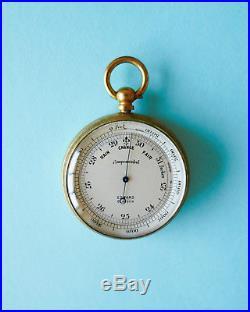 Pocket Barometer, Cased, Edward & Sons, 1910, Good Condition