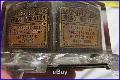 RARE 1920's MOVA ANEROID BAROMETER Advertising Piece Glenside PA