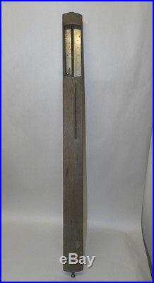 RARE ANTIQUE c1870 Stick Barometer AMERICAN Thaxter BOSTON Needs TLC