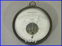 RARE Antique 1859 METALLIC BAROMETER by V Beaumont New York #2975