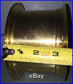 RARE VINTAGE BOSTON CHELSEA CLOCK USA BRASS SHIP'S BELL CLOCK 5.75 No Key