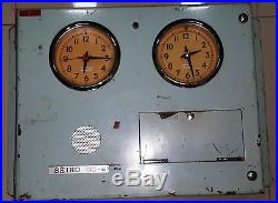 RARE VINTAGE MARINE CLOCK OF SEIKO QC 6M3 NO 002594