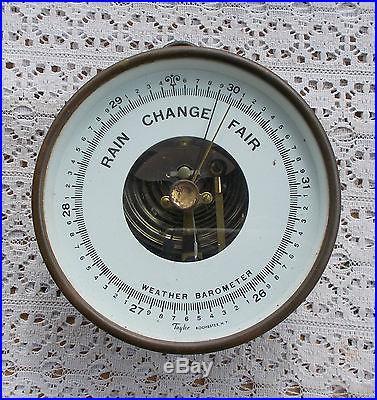 RARE Vintage Taylor Weather Barometer HPYC Trophy 1946 Betthad Brass Metal LOOK