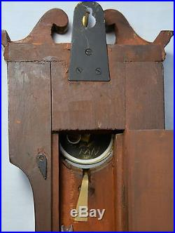 Rare 1800s J Somalvico & Son Mahogany Wheel Banjo Barometer London