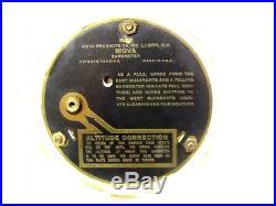 Rare 1920's Mova Desk Top Barometer, Glass Domed, Working
