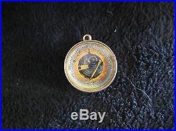 Rare Antique 18kt Gold Traveling Pocket Barometer With Case