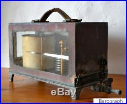 Rare Antique Architectural Drum Barograph & Barometer
