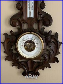 Rare Antique Black Forest Barometer