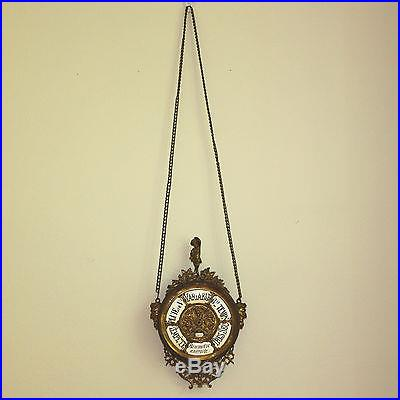Rare Antique French Aneroid Barometer, working order, ca 1860