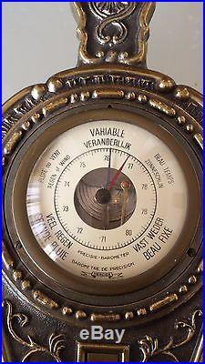 Rare Antique Mercier Aneroid Barometer