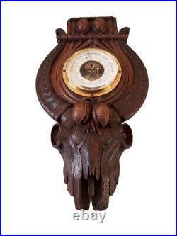 Rare German Aneroid Barometer Trophy Hunting Black Forest 1900