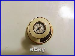 Rare German Nautical 1935 Brass Lufft Weather Pillar Barometer, Hygrometer