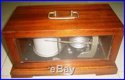 Rare Vintage Marine Barograph of Veb. Feingeratebau 9362 Drebache R. Z. G G. D. R