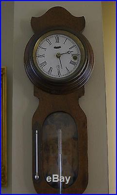 Rare Walnut Wall Timepiece/Barometer G V Mooney Barometer
