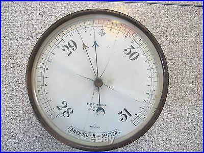 Rare antique E. W. Kittredge Optician Minneapolis Aneroid Barometer S M London