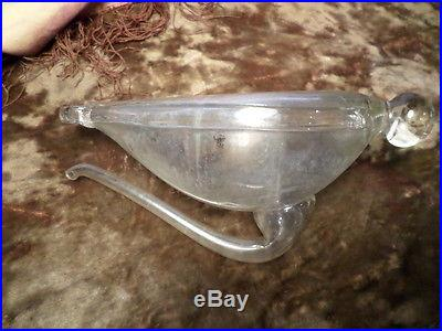 Rare antique vintage WATER BAROMETER / SA Clipper Ship Weather Glass Germany S&A