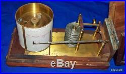 Richard Freres French Made Barograph #4505 Marine A. G. Mahogany Wood Case